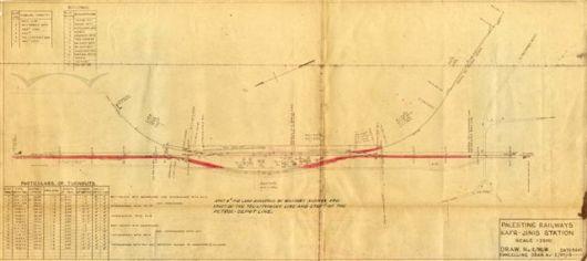 PR Eng. Drg. E-95-15 - Kafr-Jinis Station 09.06.1945 (08.05.1947)