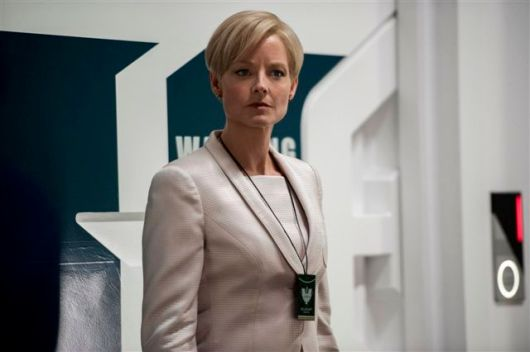 Jodie Foster plays Secretary Delacourt in TriStar Pictures' Elysium.