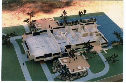 דגם חדר אוכל ינואר 1986 בלי הגג