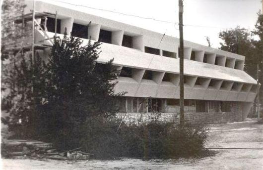 אולם הספורט אזור משרדים ושרותים מבט מדרום 1978