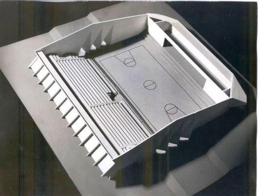 דגם פנים אולם הספורט 1977