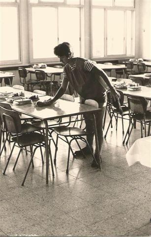 חדר האוכל הבינוני 1977