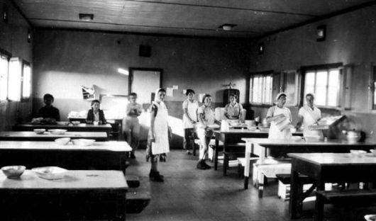 חדר האוכל בפנים שנות הארבעים