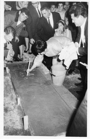 עדנה פלידל חותמת בבטון אוסף בלסבלג