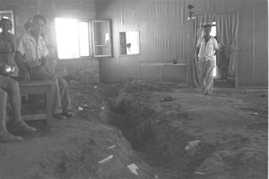 1946 זולטן קלוגר חדר האוכל לאחר חיפוש סליקים בידי הבריטים