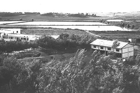 מבט מאולם ויצמן אל המועדון אולם הספורט- 1948