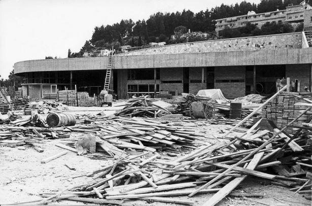 תחנת אגד בצפת בבנייתה באדיבות ארכיון ההיסטורי אגד (1)