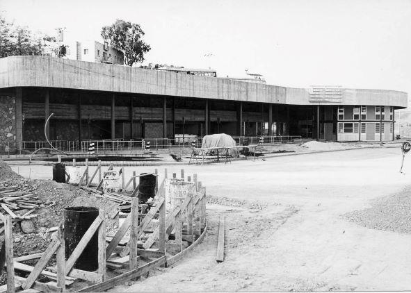תחנת אגד בצפת בבנייתה באדיבות ארכיון ההיסטורי אגד (2)