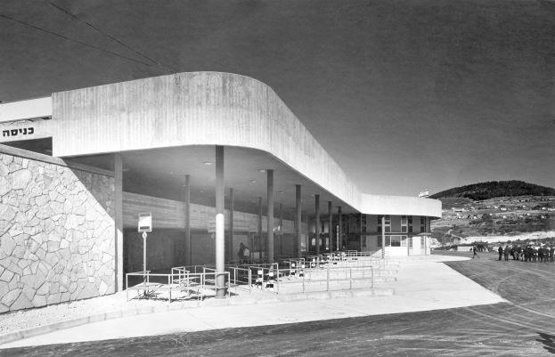 תחנת אגד בצפת בבנייתה באדיבות ארכיון ההיסטורי אגד (4)